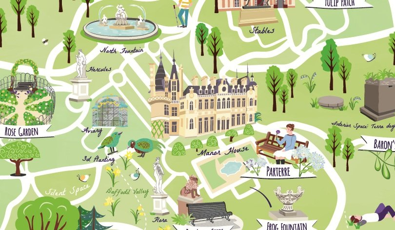 Waddesdon-visitor mindfulness-map detail