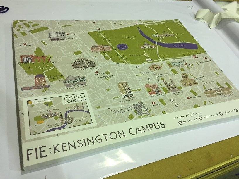 FIE London Campus map canvas
