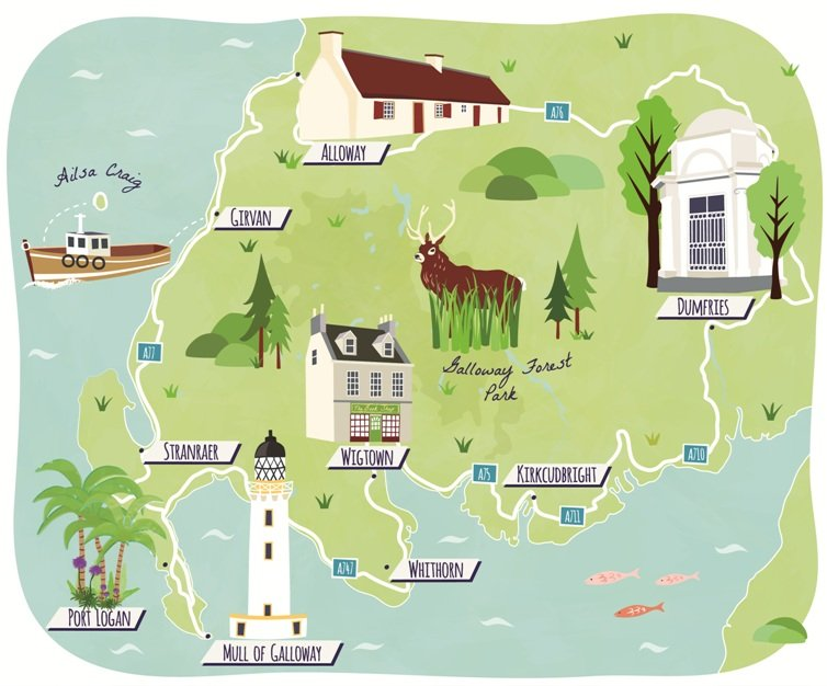 Guardian Travel road-trip maps Dumfries