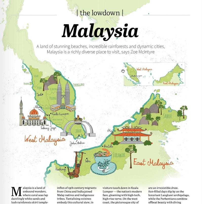 Tourist Map of Malaysia