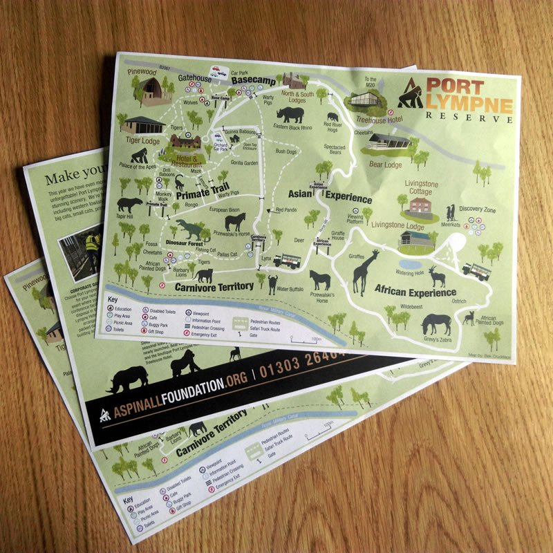 wildlife park visitor map