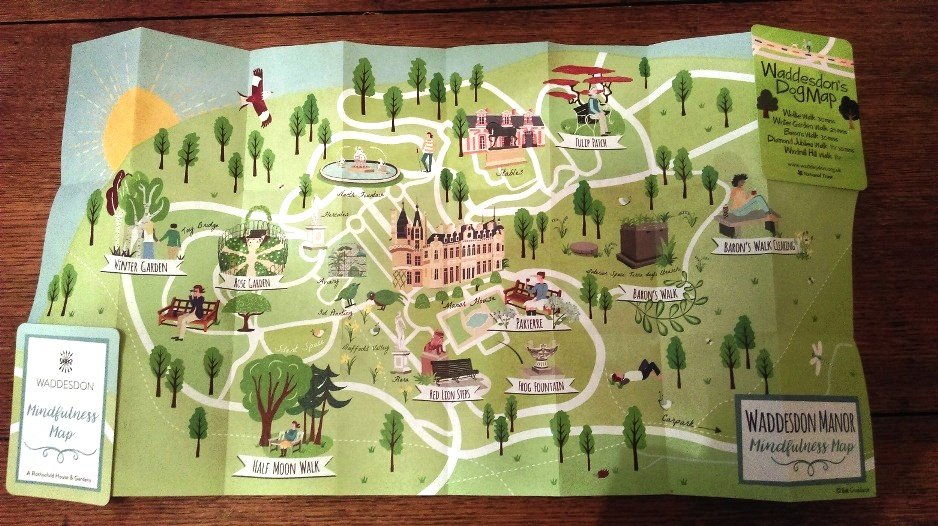 waddesdon manor visitor mindfulness map