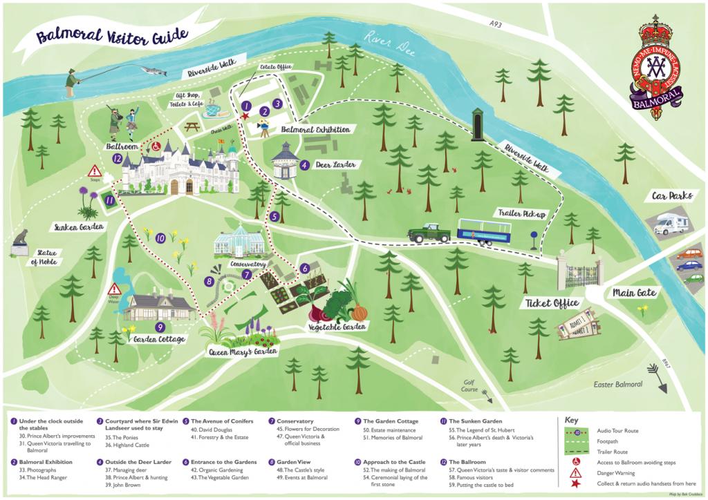 Balmoral visitor map audio tour