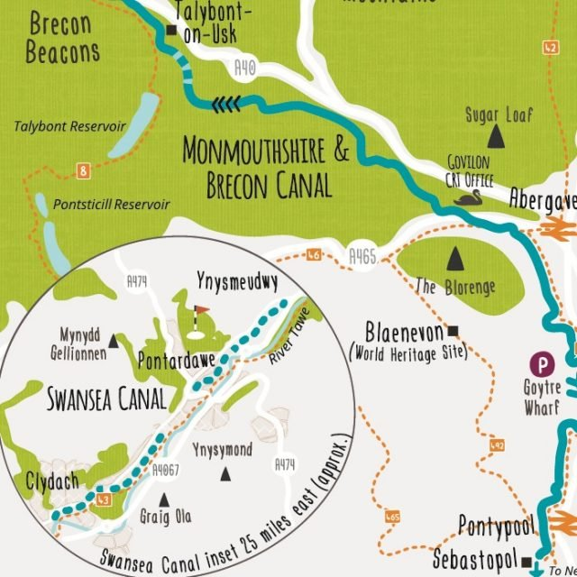 Illustrated canal network maps