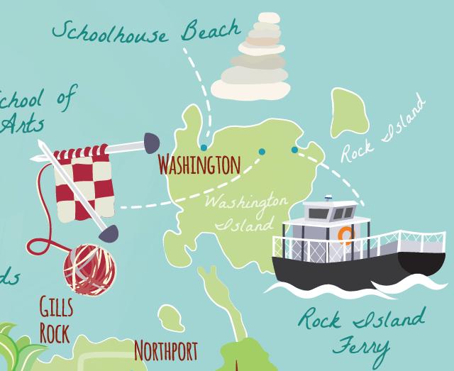 Landsend wisconsin map