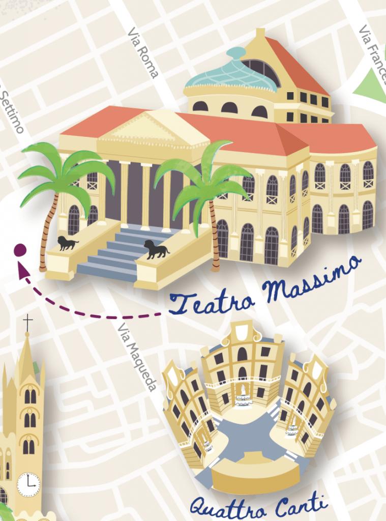 Palermo map teatro massimo