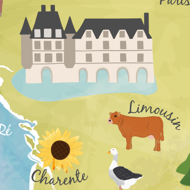 Illustrated maps of France