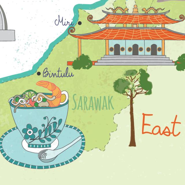illustrated-malaysia-map-sarawak