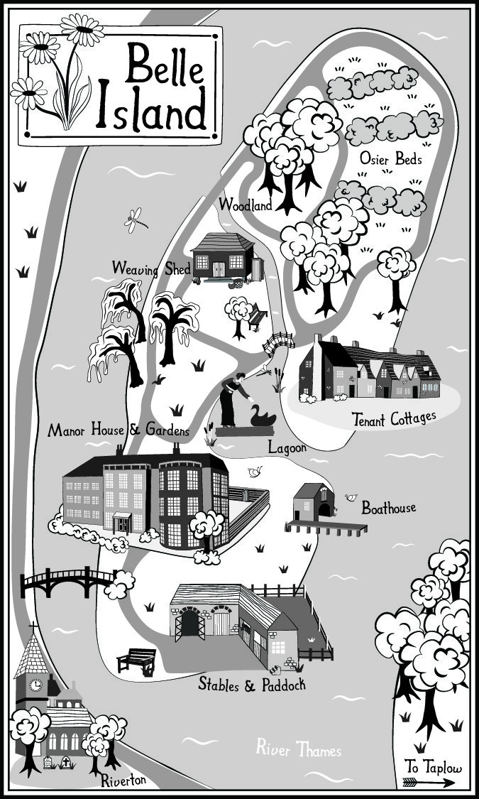 Belle Island Map