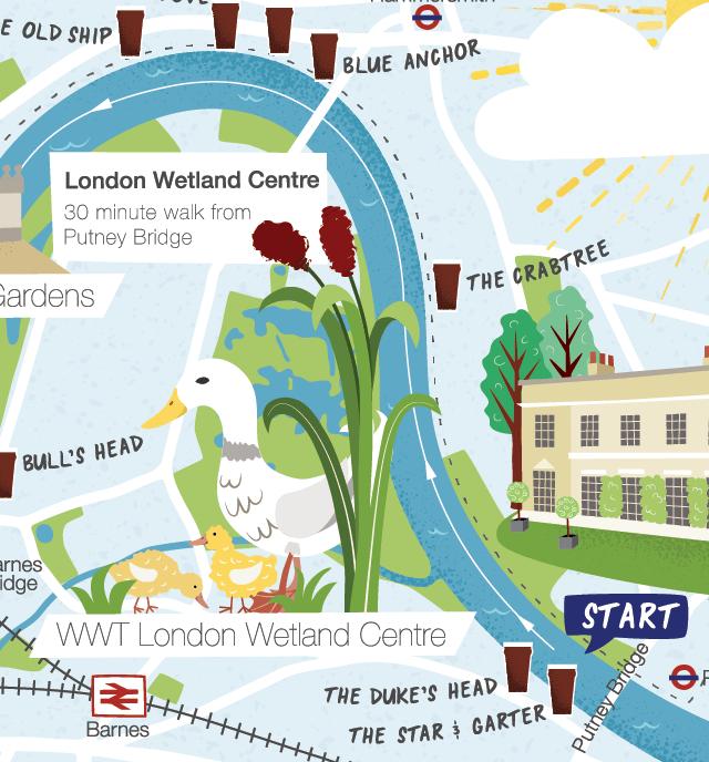 London boat Race map detail