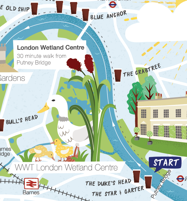 London-Boat-Race-route-map