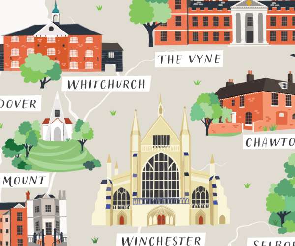 Illustrated map of Hampshire