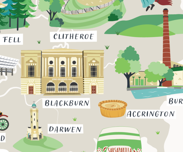 Lancashire-map