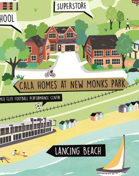 New-Monks-Park-map