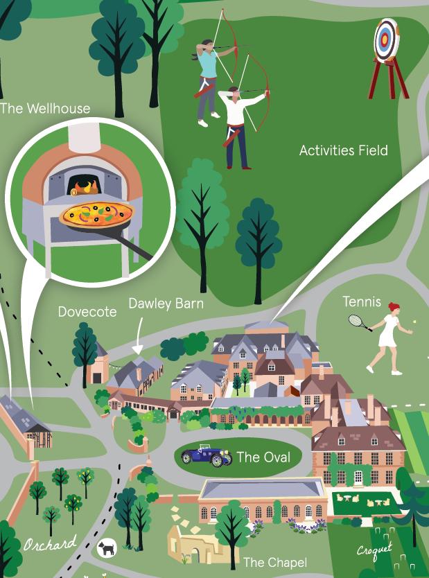 Lainston house  hotel map detail
