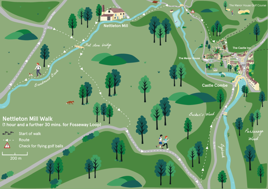 Manor House Walking route map