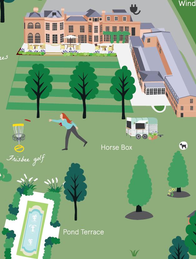 Royal Berkshire hotel map detail