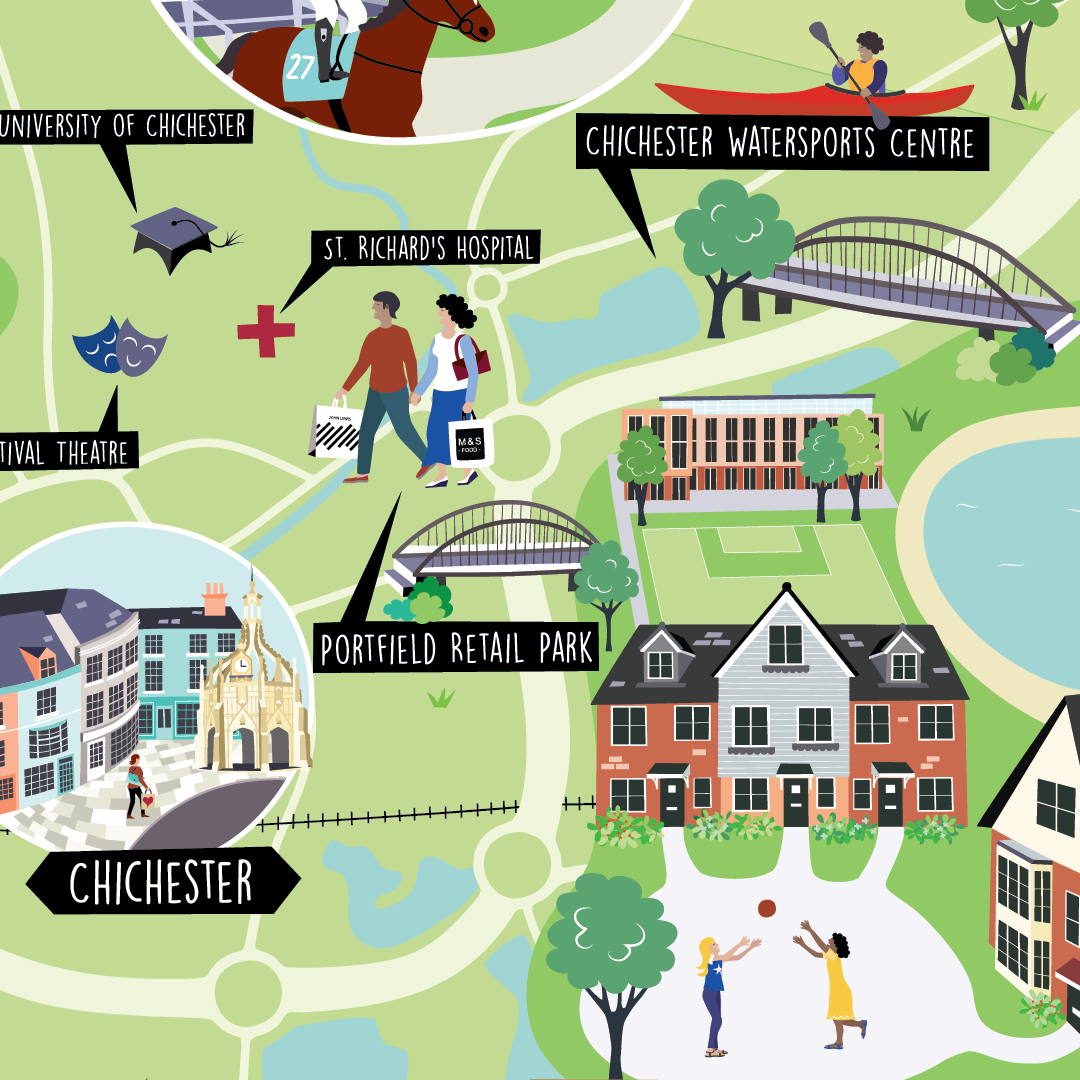 Shopwyke housing development map