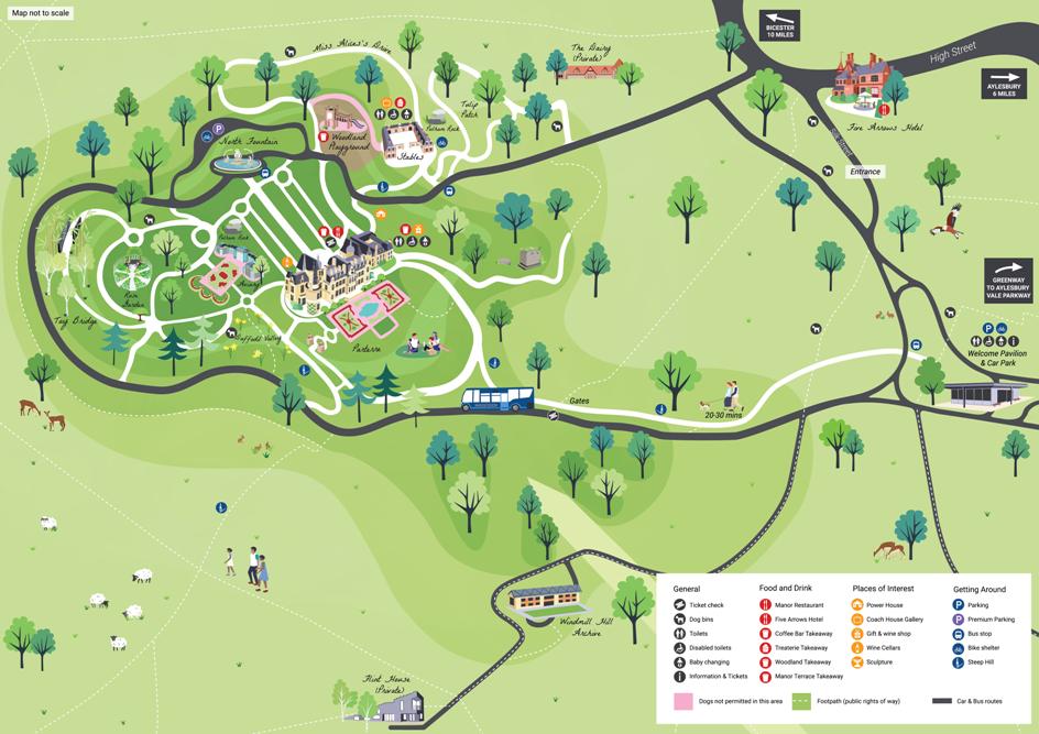 Waddesdon visitor map