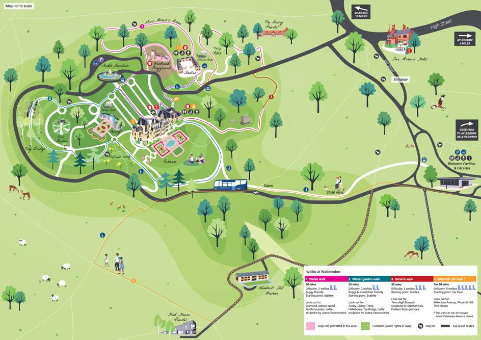 Waddesdon walking map